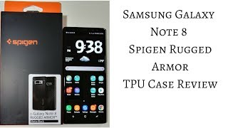 Samsung Galaxy Note 8 Spigen Rugged Armor Case Review