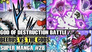 BEERUS VS EVERY GOD OF DESTRUCTION! Dragon Ball Super Manga Chapter 28 Review