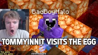 TommyInnit investigates the RED EGG with BadBoyHalo on Dream SMP
