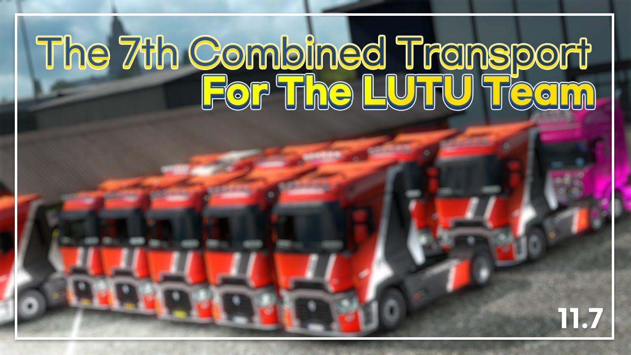 유로트럭2 팀아우디 대규모 떼빙 참여 | The 7th Combined Transport For The Lutu Team