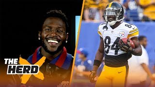 Antonio Brown on TD celebrations, beating the Patriots and more | THE HERD (FULL INTERVIEW)