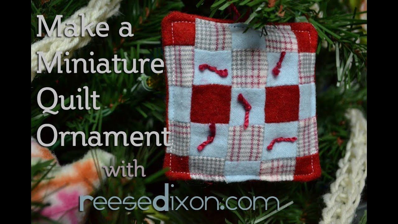 christmas diy miniature quilt ornament youtube