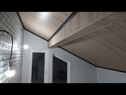 Потолок из двп своими руками фото