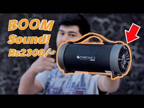 Zebronics Zeb-Rocket Wireless Bluetooth Speaker Review | With Bass Sound Test