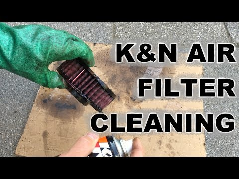 How To Clean A K&N Air Filter Yamaha XVS 650