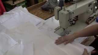 Burial Shroud construction: Earth bag, bonnet & apron