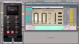 Ableton Live 9 Tutorial: Mastering using Waves SSL Compressor and L2 Limiter