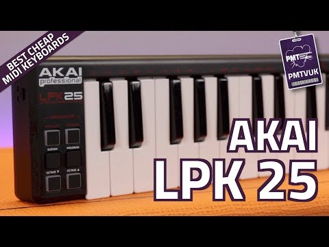 Akai LPK 25 Portable USB MIDI Keyboard - Review & Demo