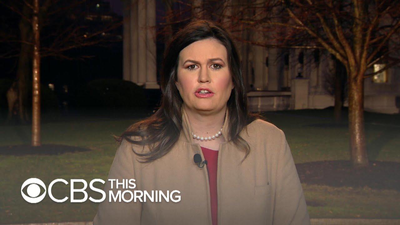"Trump ""willing to negotiate"" on border wall, Sarah Sanders says"