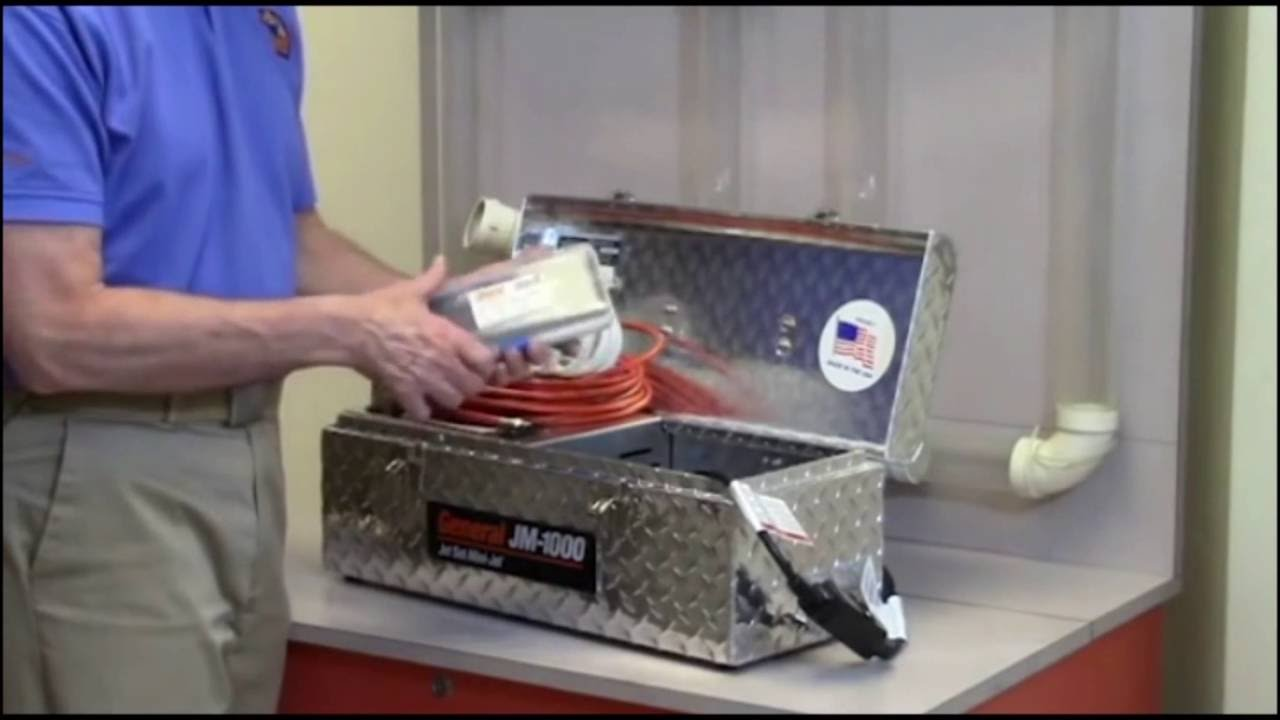 The General Wire Mini Jet Drain Cleaner - YouTube