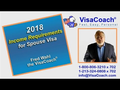 2018 Income Eligibility Requirements for CR1 Spouse Visa
