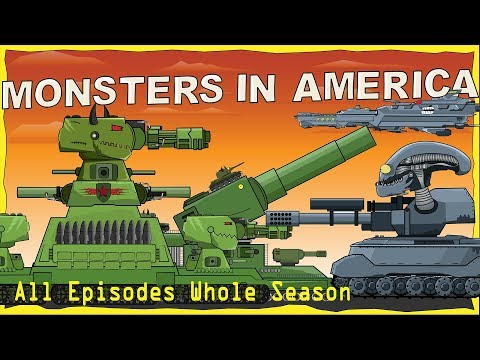 """All episodes Monsters in America first season"" Cartoons about tanks"