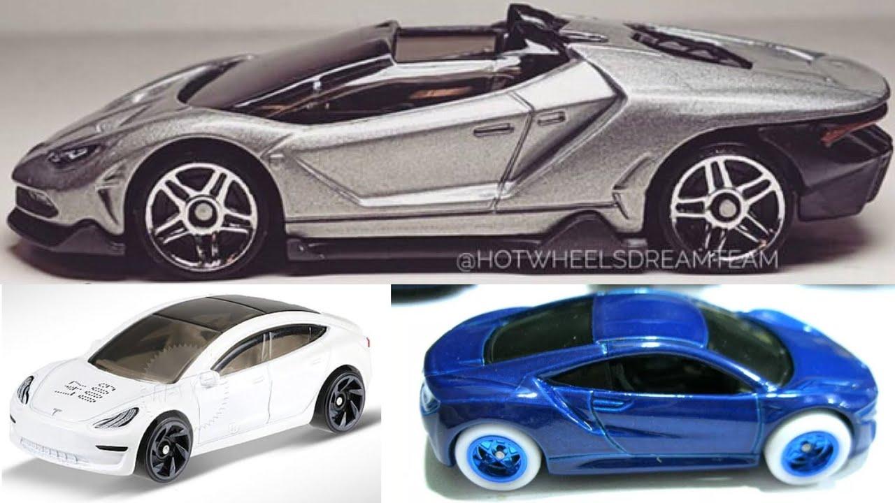 New 2019 Hot Wheels Cars Acura Nsx Super T Hunt Tesla Model 3