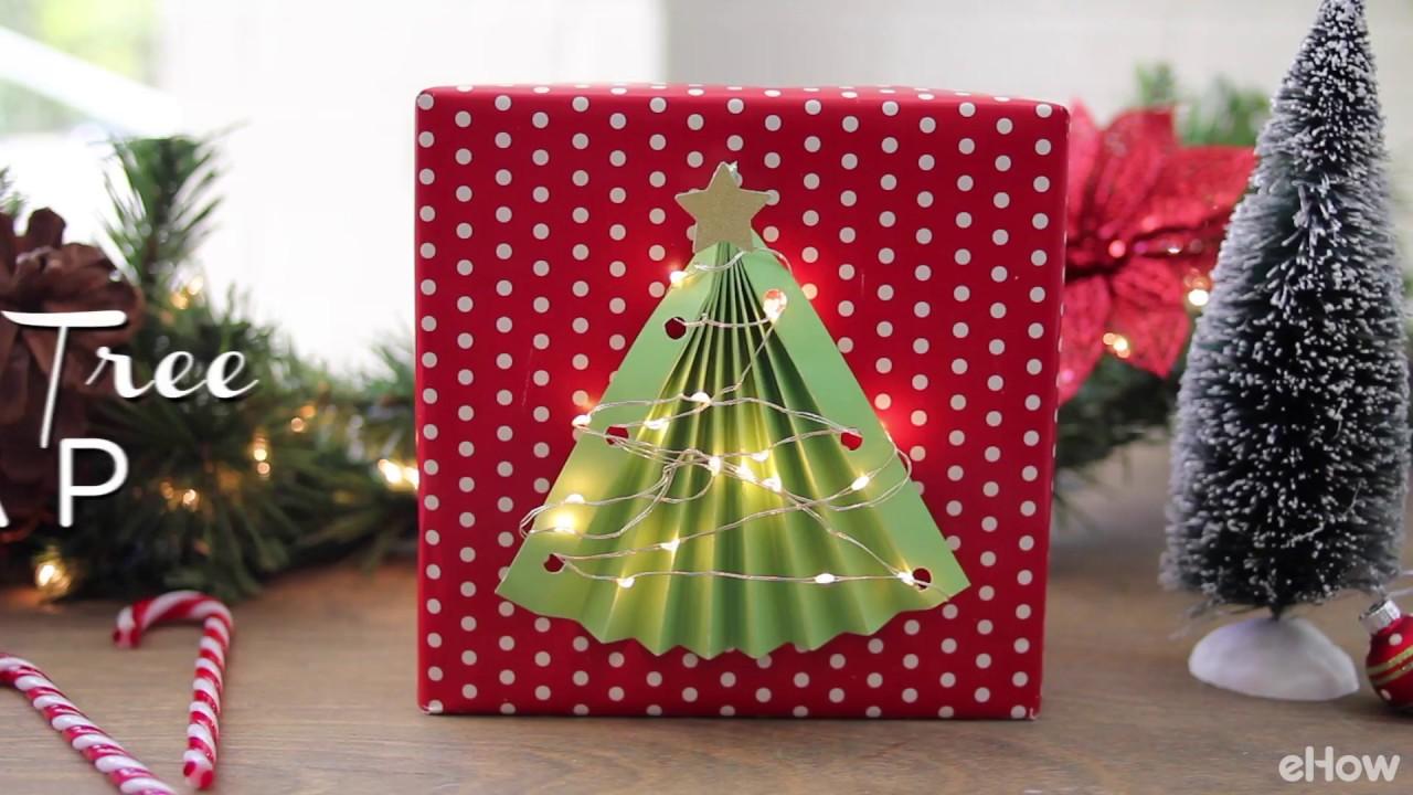 DIY Lighted Christmas Tree Gift Wrap - YouTube