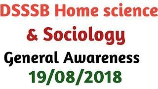 General Awareness|| Dsssb PGT Socialogy & Home science bY Aman Narang