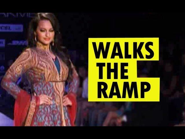 Sonakshi Sinha walks the ramp at Lakme Fashion Week