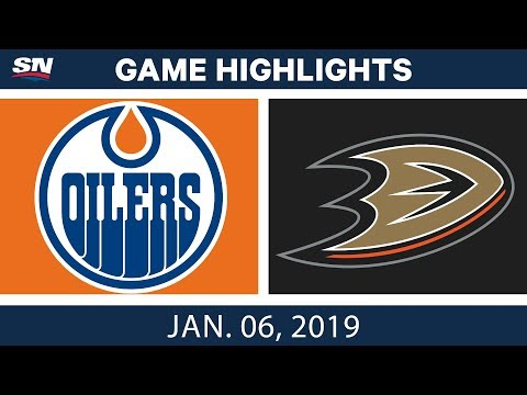 NHL Highlights | Oilers vs. Ducks - Jan. 6, 2019