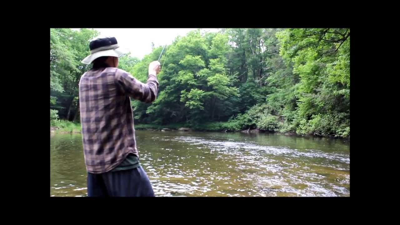 Fly fishing western north carolina big trout youtube for Nc trout fishing regulations