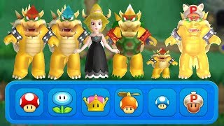 New Super Mario Bros U Deluxe - All Bowser Power-Ups
