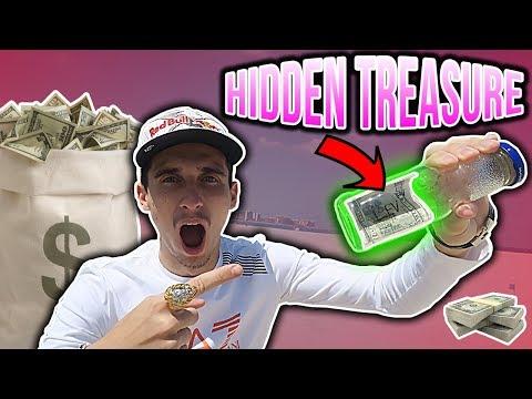 HIDING $100 DOLLARS TREASURE AROUND DUBAI!!