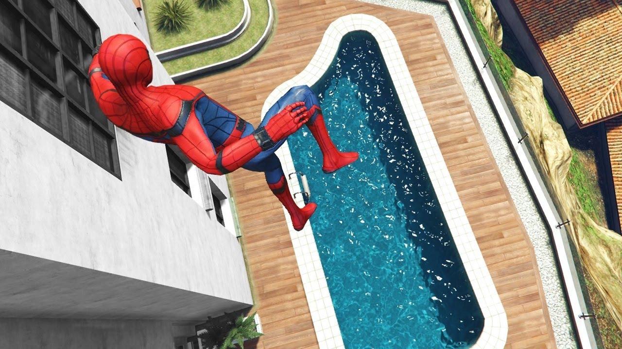 GTA 5 Epic Ragdolls | Spider-Man Jumps/Fails ep.124 (Euphoria physics)