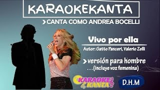 karaoke vivo por ella version para hombre