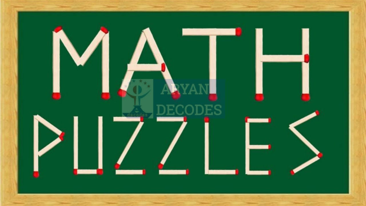 Matchstick Puzzles With Answers   Math Puzzles   Riddles   Brainteasers   Test Your Brain