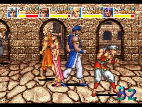 Arabian Fight arcade 4 player Netplay 60fps