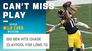Roethlisberger Throws a Laser to Claypool for the Score!