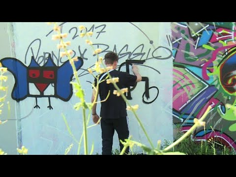 Berlin activists turn Nazi hate graffiti into art