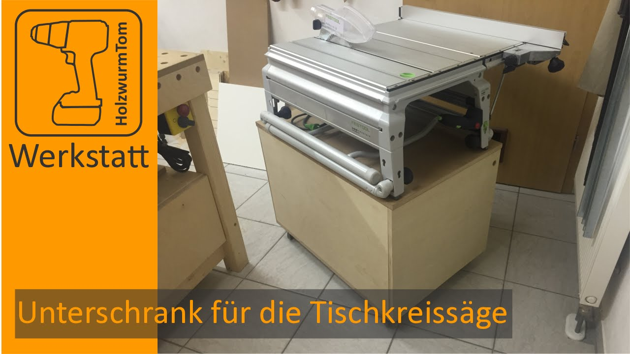 unterschrank für die tischkreissäge festool cs 50 - base cabinet for