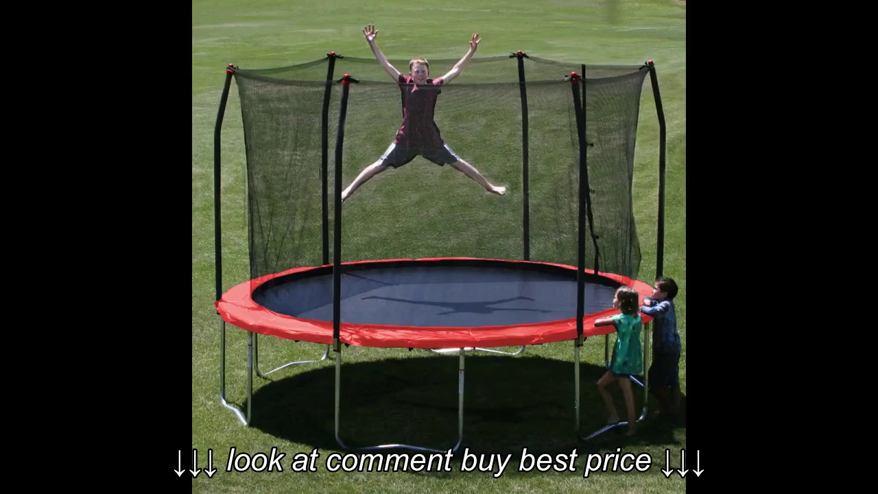 Skywalker Trampolines 12 Feet Round Trampoline And Enclosure With Spring Pad