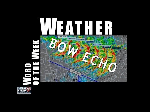 What is a bow echo?   Weather Word of the Week
