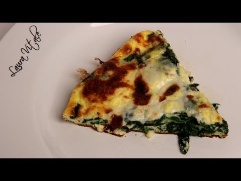 Spinach Frittata Pizza Recipe