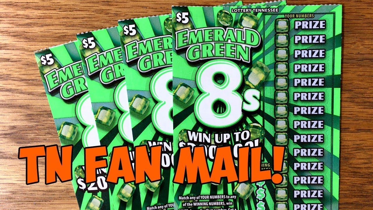TN FAN MAIL! ✦ 4X $5 Emerald Green 8s ✦ TENNESSEE LOTTERY