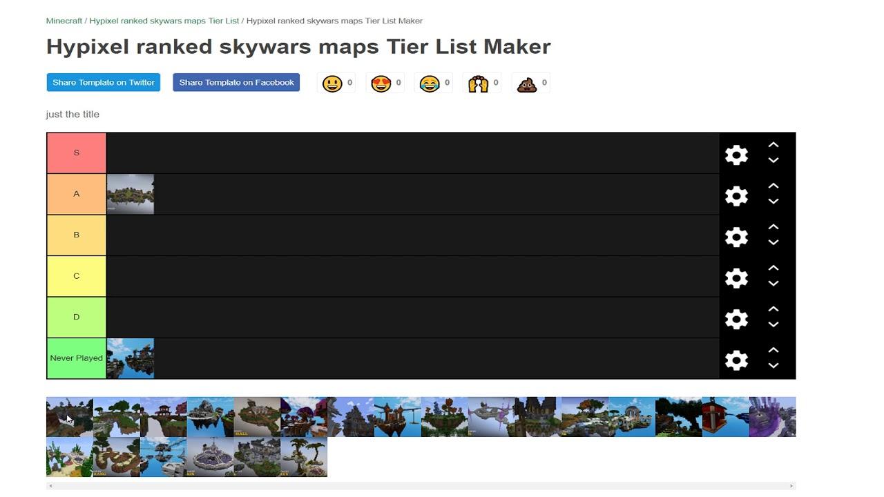 Hypixel Ranked Skywars Kits Maps Tier List