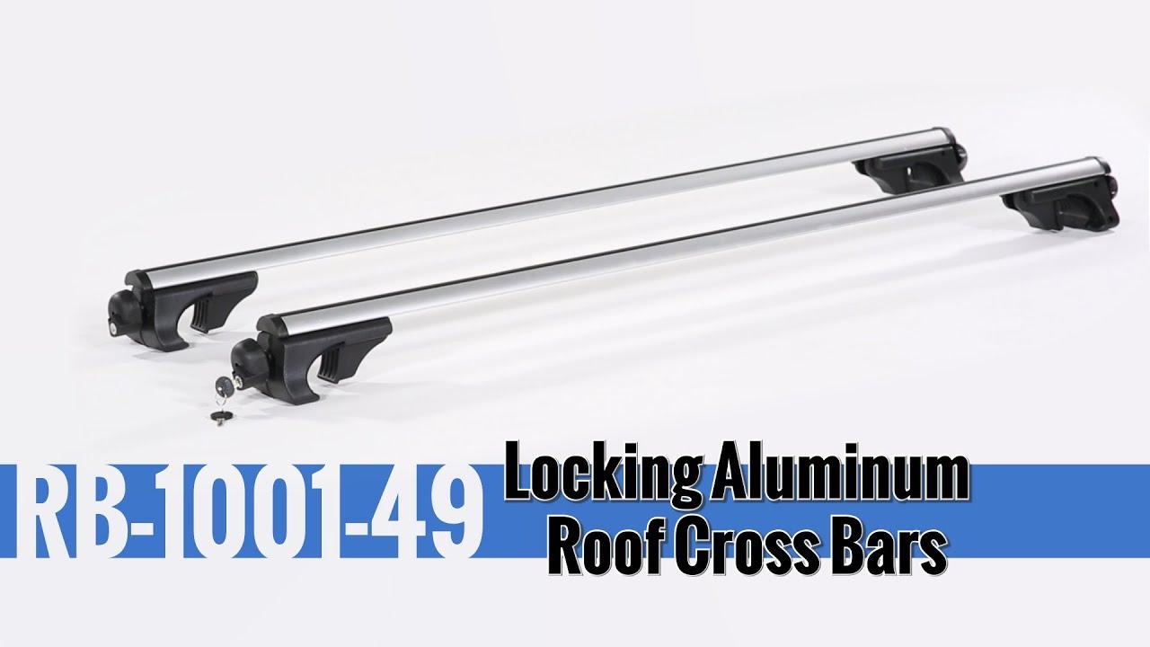 Locking Aluminum Roof Cross Bars U2013 Installation And Use
