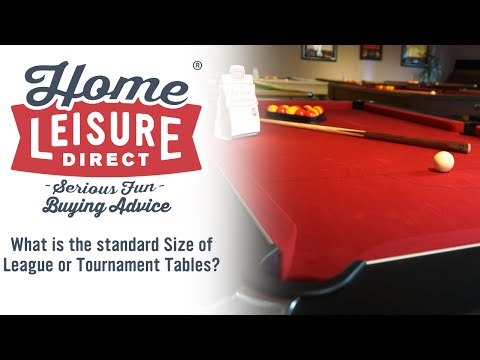 What is the Standard Size of League and Tournament Tables? - Pool Table Buying Advice