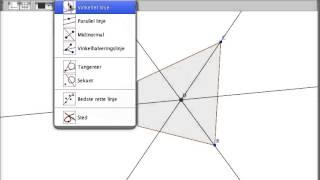 Geogebra   Indskreven cirkel