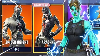 Nouveau SPIDER KNIGHT - ARACHNE Halloween Skins In Fortnite Battle Royale..