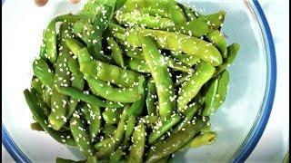 Как приготовить зеленную фасоль. Салат из из зеленной фасоли.How to cook green beans.