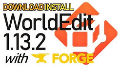 WORLD EDIT MOD 1.13.2 minecraft - how to download and install WorldEdit 1.13.2 (with Forge)
