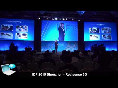 IDF15 Shenzhen - Intel Realsense 3D