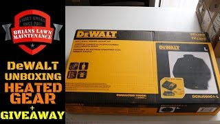DeWALT Heated Gear Unboxing+Giveaway!