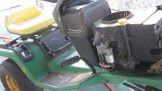 John Deere STX38 , clutch ,steering and deck repairs