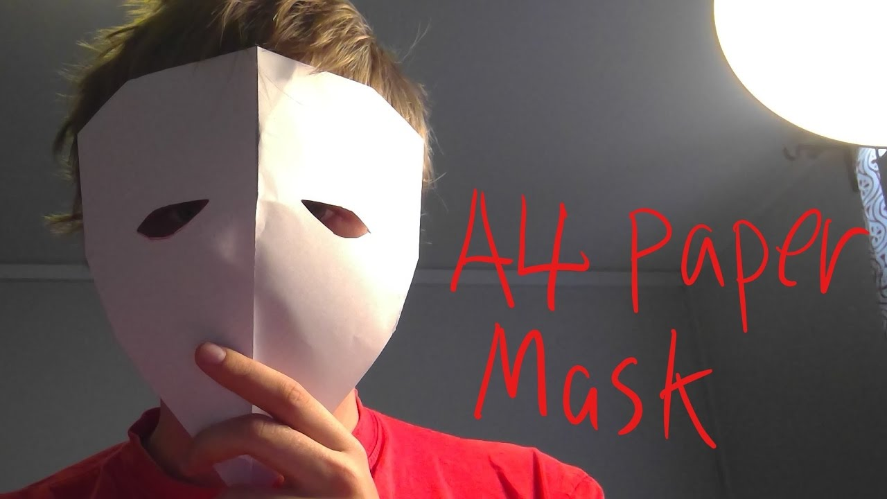 How To Make A4 Paper Mask Easy Origami