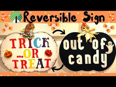 Dollar Tree Halloween Sign   Winners Announced!