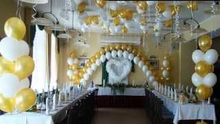 видео Оформление свадебного торжества воздушными шарами