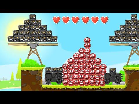 Красный Шар - мод на 1000 квадратов на уровне ! Игра Red Ball 4 mod 100 square шарик от Спуди