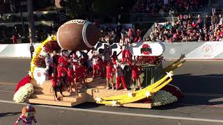 2019 Tournament of Roses Parade: Ohio State Marching Band float 105th Rose Bowl Pasadena, California